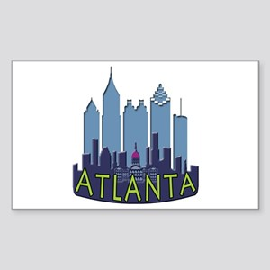 Atlanta Skyline Newwave Cool Sticker (Rectangle)