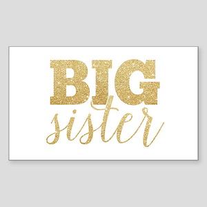 Glitter Big Sister Sticker