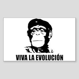 Viva La Evolucion Sticker (Rectangle)