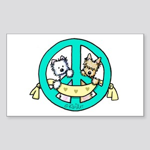 Terriers For Peace Sticker (Rectangle)