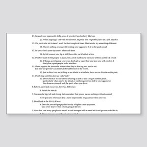 21 Rules & Truisms of Fencing Sticker (Rectangle)