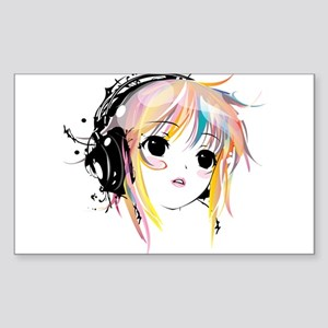 yuki remix Sticker (Rectangle)