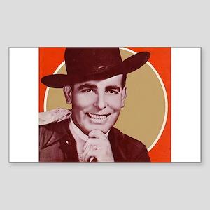 Bob Wills Classic Rectangle Sticker