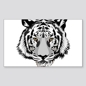 White Tiger Face Sticker