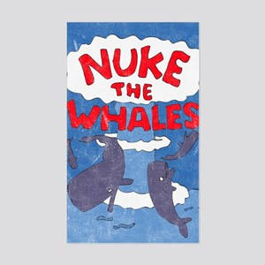 Nuke the Whales Rectangle Sticker