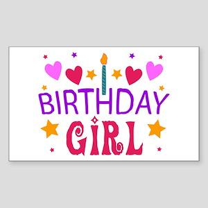 Birthday Girl Rectangle Sticker