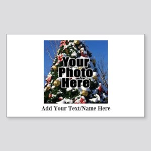 Custom Personalized Color Photo And Text Sticker