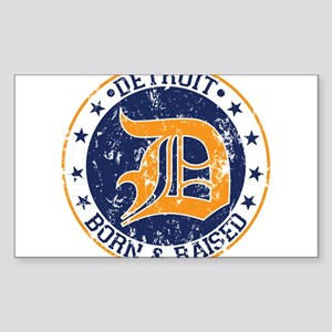 Detroit born and raised Sticker