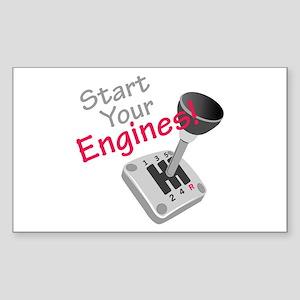 Start Your Engines Sticker