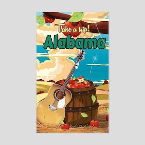 Alabama vintage travel poster Sticker (Rectangle)