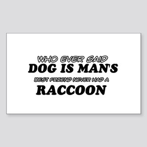 Raccoon designs Sticker (Rectangle)