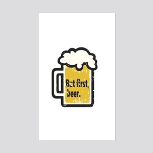 But First Beer Sticker