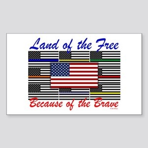 Land Of The Free Sticker