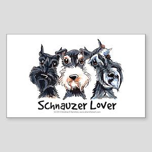 Miniature Schnauzer Lover Sticker (Rectangle)
