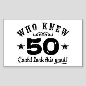 Funny 50th Birthday Sticker (Rectangle)