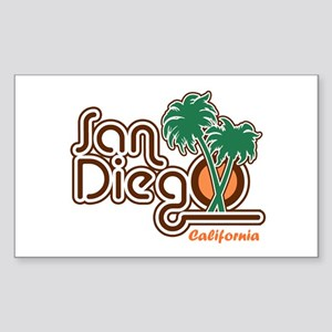 San Diego CA Sticker (Rectangle)