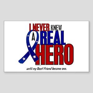 Never Knew A Hero 2 Military (Best Friend) Sticker