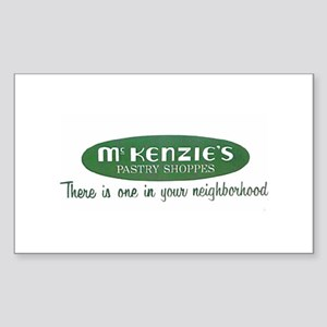 McKenzie's Pastry Shoppe Rectangle Sticker