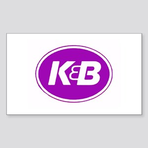 K&B Retro Rectangle Sticker