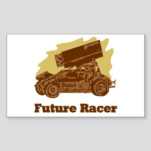 Future Auto Racer Rectangle Sticker