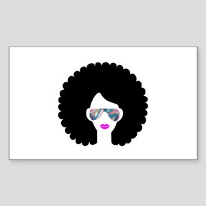 hologram afro girl Sticker