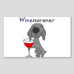 Weimaraner with Wine Sticker