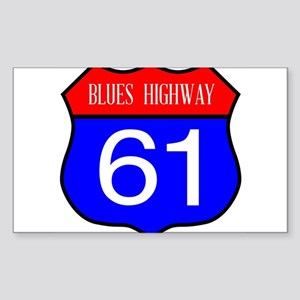 Blues Highway 61 Spoof Sign Sticker
