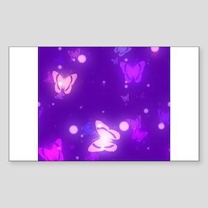 Neon Glowing Butterflies Sticker