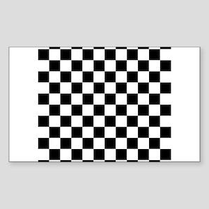Checkered Flag Racing Design Chess Checker Sticker