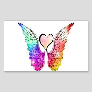 Angel Wings Heart Sticker