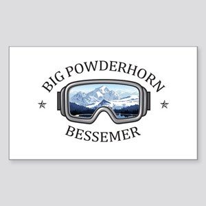 Big Powderhorn Ski Area - Bessemer - Mic Sticker