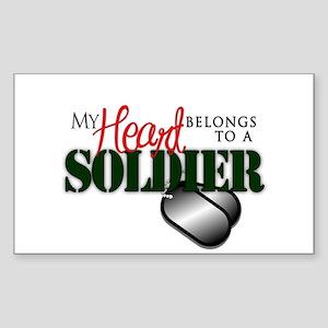 Heart Belong to Soldier Sticker
