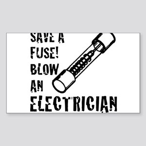 save a fuse blow an electrician funny spar Sticker