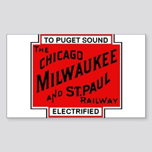 Milwaukee Road Puget Sound Railway design Sticker