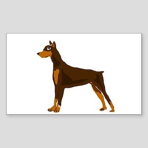 Doberman Pinscher Dog Art Sticker