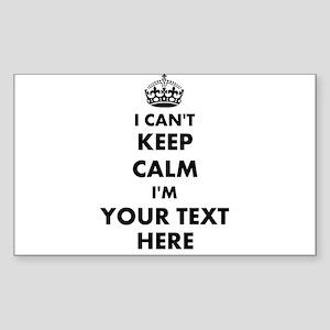 I cant keep calm Sticker