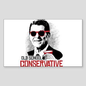 Reagan: Old School Conservativ Sticker (Rectangle)