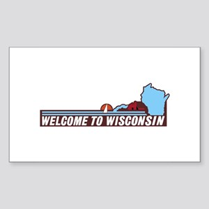 Welcome to Wisconsin 90s - USA Sticker (Rectangle)