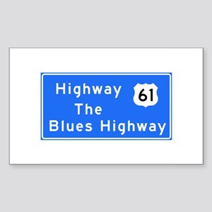 The Blues Highway 61, TN & MS Sticker (Rectangle)
