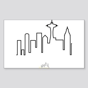 Frasier: Skyline Design Sticker (Rectangle)