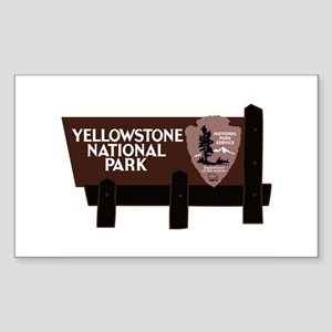 Yellowstone National Park, WY Sticker (Rectangle)