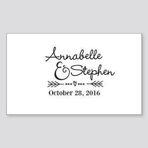 Couples Names Wedding Personalized Sticker