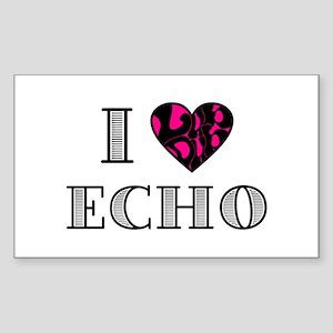 I LubDub Echo Hot Pink Sticker (Rectangle)