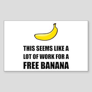 Free Banana Sticker