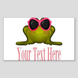 Frog in Pink Sunglasses Custom Sticker