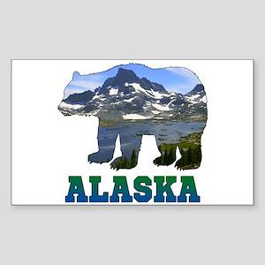 Alaskan Bear Sticker (Rectangle)