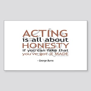 George Burns Acting Quote Rectangle Sticker