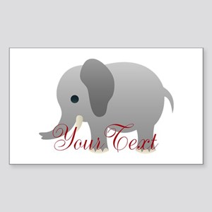 Elephant Personalize Sticker