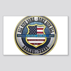 Memorial Dallas Police Thin Blue Line Sticker