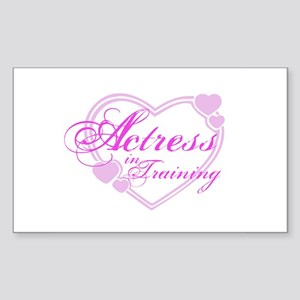Actress-In-Training Design I Rectangle Sticker